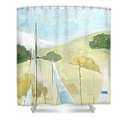 Seaside Sails Shower Curtain