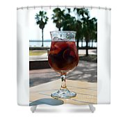 Seaside Sangria Shower Curtain