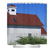 Seaside Schoolhouse Shower Curtain