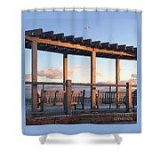 Seaside Seating  Shower Curtain