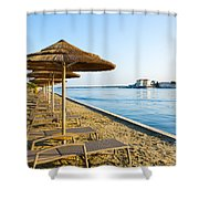 Seaside Time Shower Curtain