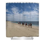 Seaside Walk Nosy Ve Madagascar Shower Curtain