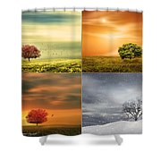 Seasons' Delight Shower Curtain by Lourry Legarde