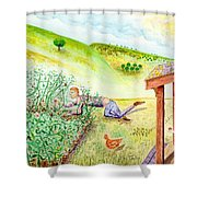 Seasons First Tomatoes Shower Curtain