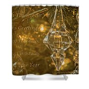 Seasons Greetings, Happy Holidays, Merry Christmas, Happy New Year Shower Curtain