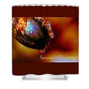 Season's Greetings- Iced Light Shower Curtain