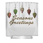 Seasons Greetings Merry Christmas Shower Curtain