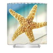 Seastar On Beach Shower Curtain