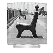 Seat On The Pier Shower Curtain