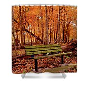 Seat To Autumn Shower Curtain