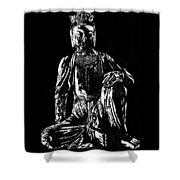 Seated Buddha Shower Curtain