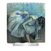 Seated Dancer Shower Curtain