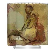 Seated Figure Shower Curtain