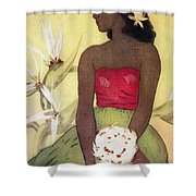 Seated Hula Dancer Shower Curtain