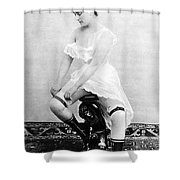 Seated Nude, C1885 Shower Curtain