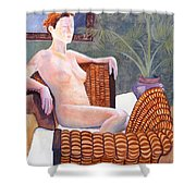 Seated Nude Shower Curtain by Don Perino