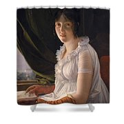 Seated Portrait Of Marie Philippe Claude Walbonne Shower Curtain