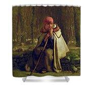 Seated Shepherdess Shower Curtain