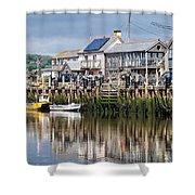 Seaton Harbour - Devon Shower Curtain