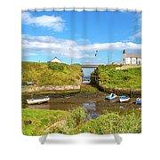 Seaton Sluice Harbour Shower Curtain