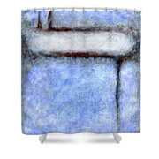 Seattle Afternoon Abstract Shower Curtain