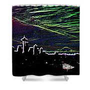 Seattle And Da Mountain Shower Curtain