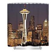 Seattle Full Moon Shower Curtain