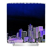 Seattle Blue 2 Shower Curtain