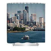 Seattle By Ferry Shower Curtain