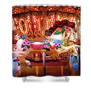 Seattle Carousel Horse Shower Curtain