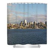 Seattle City Skyline Along Lake Union Shower Curtain