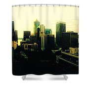 Seattle - Downtown Shower Curtain