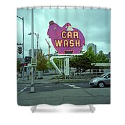Seattle - Elephant Car Wash 2 Shower Curtain