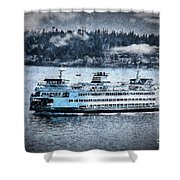 Seattle Ferry Shower Curtain