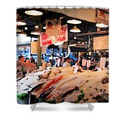 Seattle Fish Throw Pike St Market Shower Curtain