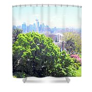 Seattle From A Hill Shower Curtain