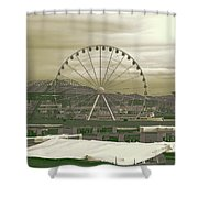 Seattle Great Wheel And Pier 57 Shower Curtain