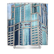 Seattle High Rise Shower Curtain