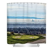 Seattle In The Fog Shower Curtain