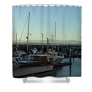 Seattle Marina Shower Curtain