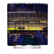 Seattle Mariners Safeco Field Night Game Shower Curtain