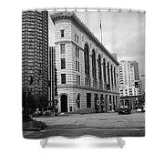 Seattle - Misty Architecture 2 Bw Shower Curtain