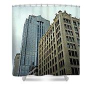 Seattle - Misty Architecture 3 Shower Curtain