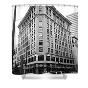 Seattle - Misty Architecture Bw Shower Curtain