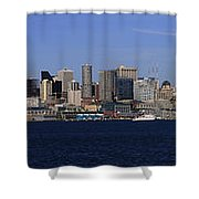 Seattle Panoramic Shower Curtain by Adam Romanowicz