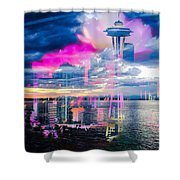 Seattle Rose Shower Curtain