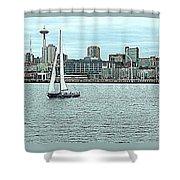 Seattle Sail Shower Curtain