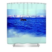 Seattle Shoreline Shower Curtain