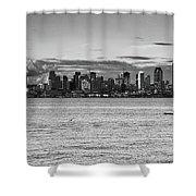 Seattle Skyline 3 Shower Curtain