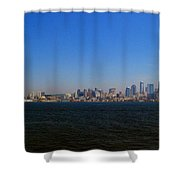 Seattle Skyline And Space Needle Shower Curtain